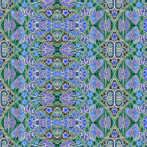 Midnight on the Midway fabric by edsel2084 on Spoonflower - custom fabric
