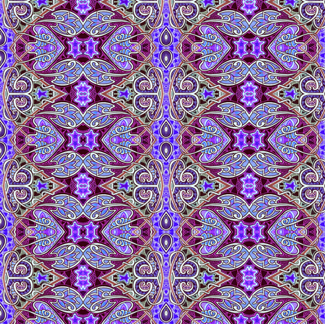 Persian Crawl (an ornate Middle Eastern looking vertical stripe) fabric by edsel2084 on Spoonflower - custom fabric