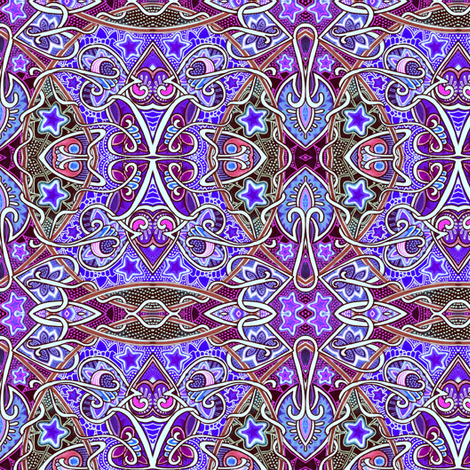 Then the Gypsy Read My Palm fabric by edsel2084 on Spoonflower - custom fabric