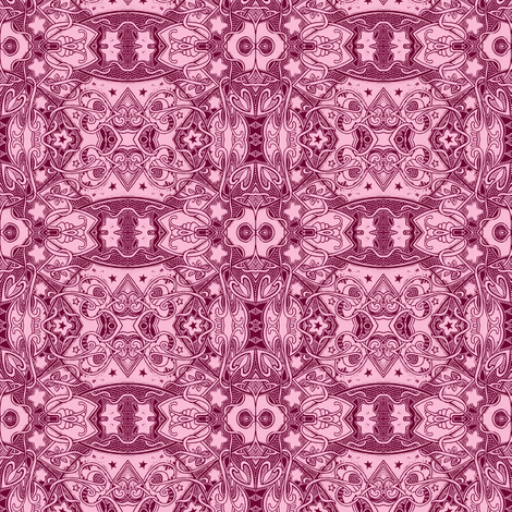 On the Midway (rose/raspberry line art blocks) fabric by edsel2084 on Spoonflower - custom fabric