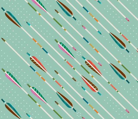 arrows wallpaper fabric by melodymiller on Spoonflower - custom fabric