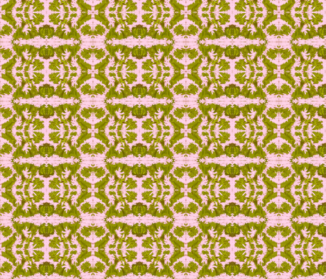 Sage greens on pink ice fabric by winterblossom on Spoonflower - custom fabric