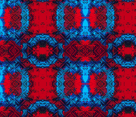 Diamond Blue and Red fabric by missekate on Spoonflower - custom fabric