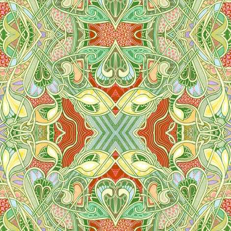My Heart Belongs to the Pale Green Sea fabric by edsel2084 on Spoonflower - custom fabric