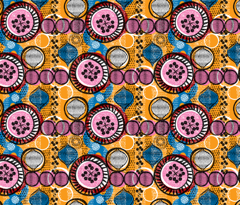 bloom-African fabric by ottomanbrim on Spoonflower - custom fabric