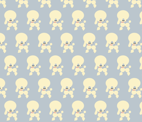Poodle fabric by laurenhitchon on Spoonflower - custom fabric