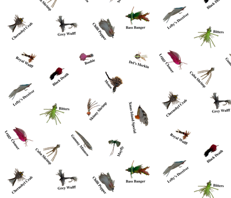 FlyfishFly fabric by aarunaa on Spoonflower - custom fabric