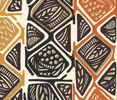 African_tribal_design1_col1 fabric by pattern_addict on Spoonflower - custom fabric