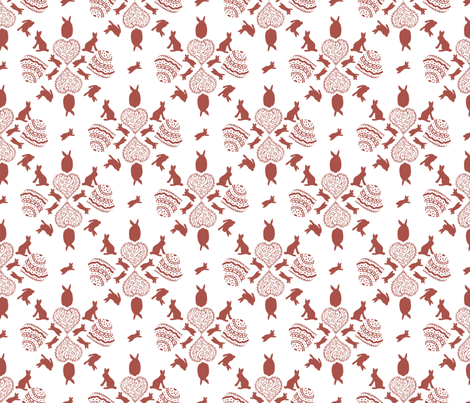 rabbit_love fabric by kirsten_miller on Spoonflower - custom fabric