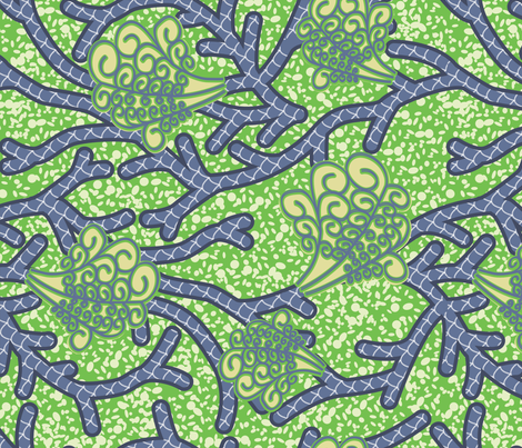 Wax Print Coastal African Fabric fabric by janelle_wooten on Spoonflower - custom fabric
