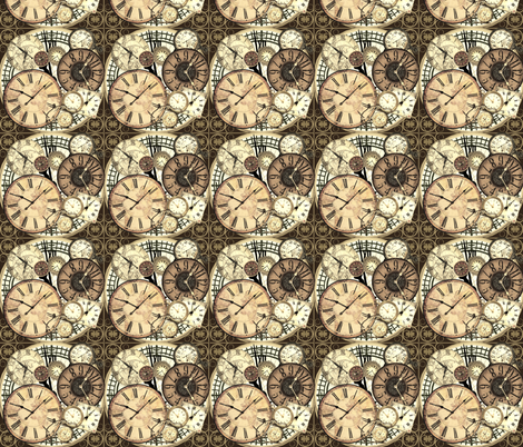 clocks light fabric by krs_expressions on Spoonflower - custom fabric