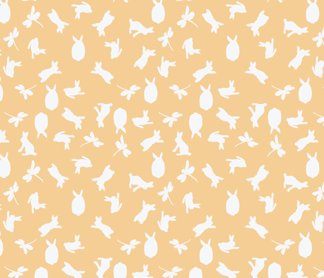 sunset fabric by kirsten_miller on Spoonflower - custom fabric