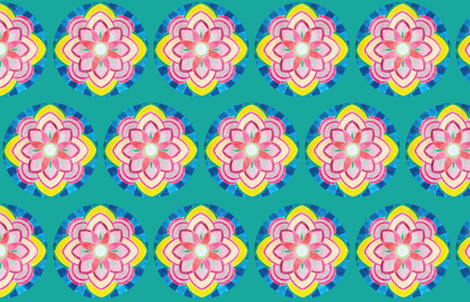 Mandala Quilt Backing fabric by elizabeth on Spoonflower - custom fabric
