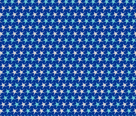 Matisse stars large blue background fabric by pinkbrain on Spoonflower - custom fabric