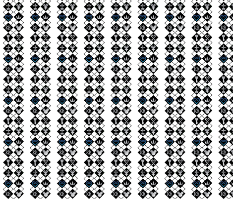 Kingdom Hearts Argyle fabric by nerdbaitplus3 on Spoonflower - custom fabric