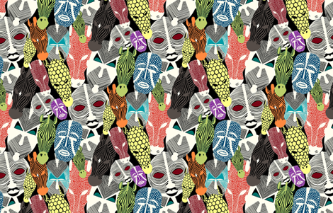 Mask fabric by zsonzsy on Spoonflower - custom fabric