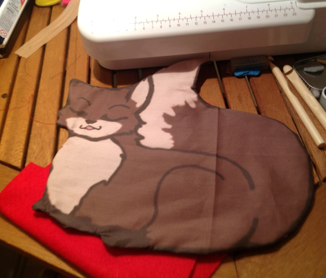 Cut and sew fox pillow slip