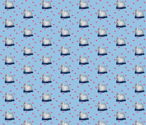 maltese dog fabric by krs_expressions on Spoonflower - custom fabric