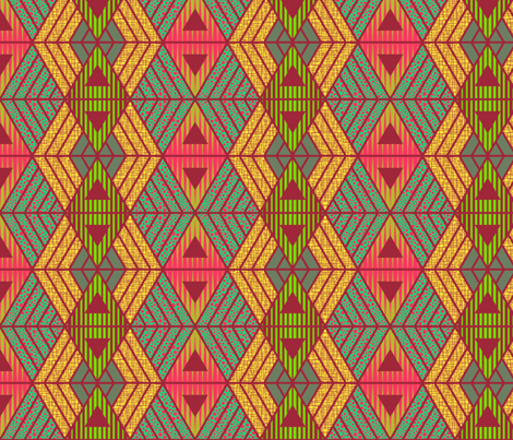 African Geometric  fabric by kimsa on Spoonflower - custom fabric
