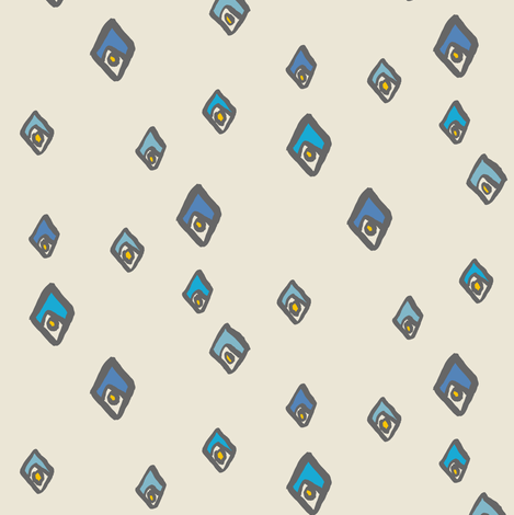 matisse - cream fabric by randomarticle on Spoonflower - custom fabric