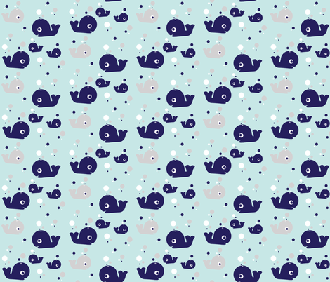 A Whale of a Pod fabric by emysue2005 on Spoonflower - custom fabric