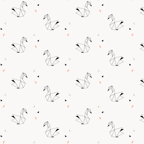 Swans (Small) fabric by kimsa on Spoonflower - custom fabric