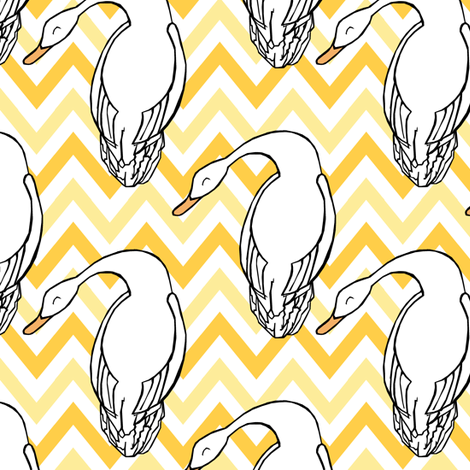 Silly Goose fabric by pond_ripple on Spoonflower - custom fabric