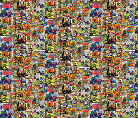 Incredible Hulk Comic fabric by flixpix on Spoonflower - custom fabric