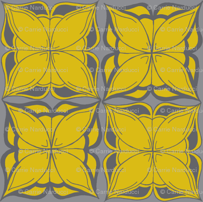 DESign in grays & yellow
