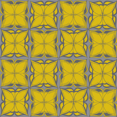 DESign in grays & yellow fabric by cnarducci on Spoonflower - custom fabric