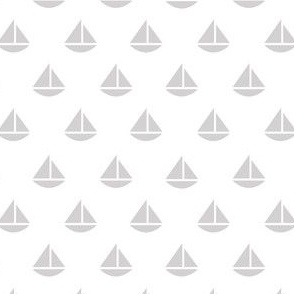 tiny gray boats