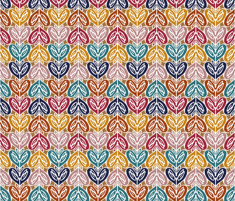 hearts fabric by clarissa_marie on Spoonflower - custom fabric