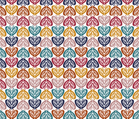 hearts  fabric by clarissagunn on Spoonflower - custom fabric