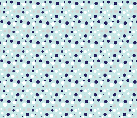 Bubbles, Bubbles, Everywhere! (in blue) fabric by emysue2005 on Spoonflower - custom fabric