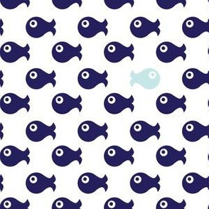 fishes (on white)