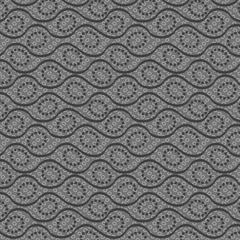 dotted_waves_grays fabric by glimmericks on Spoonflower - custom fabric