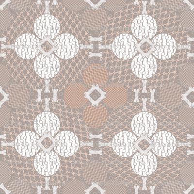 netted_and_knotted Taupe and Coral