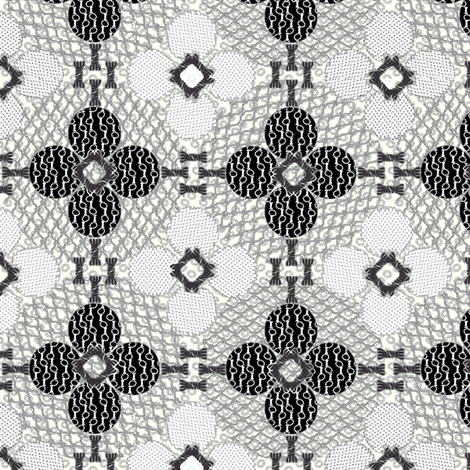 netted_and_knotted Tuxedo fabric by glimmericks on Spoonflower - custom fabric