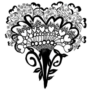 Art Deco Heart Small Repeat ©Indigodaze2013