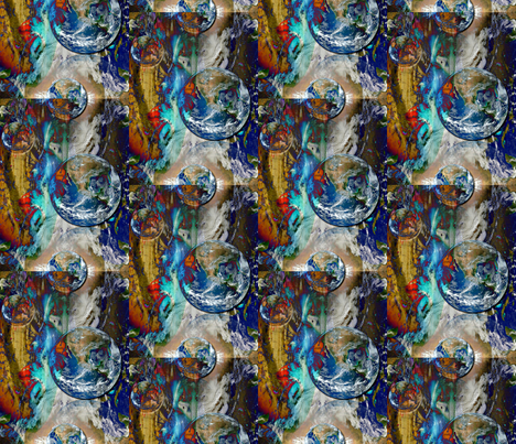 Lost in Space fabric by whimzwhirled on Spoonflower - custom fabric