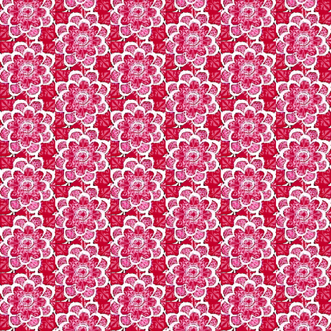 Floral pink and purple flowers 2b fabric by dk_designs on Spoonflower - custom fabric