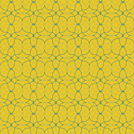 Trattoria -- yellow/blues fabric by justatrace on Spoonflower - custom fabric