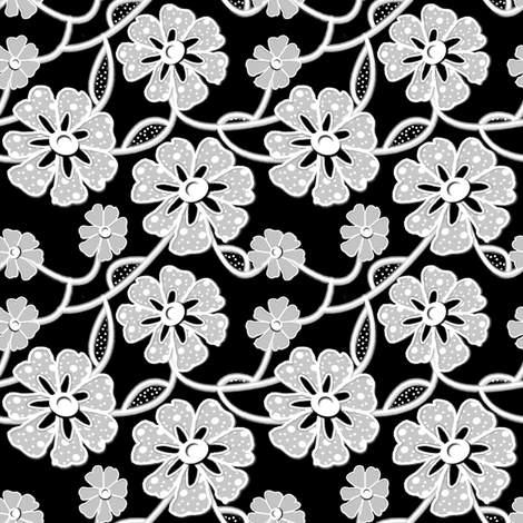 50's Lace - small print fabric by nezumiworld on Spoonflower - custom fabric