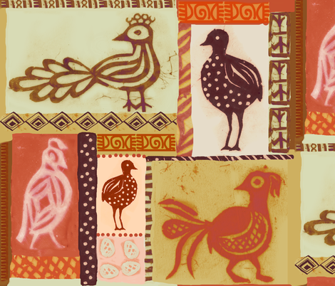 africanbirds fabric by johanna_design on Spoonflower - custom fabric