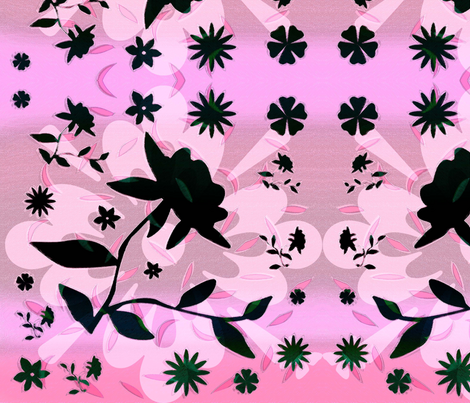 Black_flower fabric by heaven-lee on Spoonflower - custom fabric