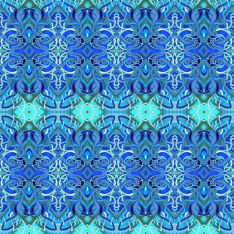 Moonight Swim (a zig zag horizontal stripe) fabric by edsel2084 on Spoonflower - custom fabric