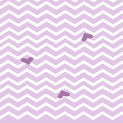 Mauve paris chevron heart