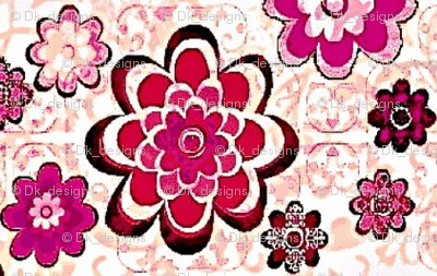 Floral pink and purple flowers sm.