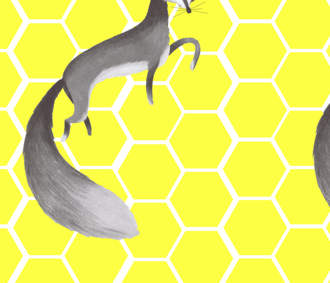 The big grey fox fabric by juffrouw_sanseveria on Spoonflower - custom fabric