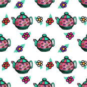 Teapots and Flowers